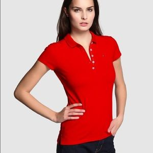 Tommy Hilfiger Red Polo